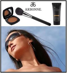 TIPS FOR APPLYING ARBONNE'S BRONZER...  Arbonne's Bronzer contains botanical ingredients, including arnica, chamomile, linden & rosemary extracts, which calm the skin & promote a healthy soft look. Proper application is key to create a natural sun-kissed look.  1. Keep a Soft Touch  2. Don't Apply All Over: Appy only to areas the sun hits...bridge of your nose, apple of your cheeks and across your hairline. It can also be used for contouring.  3. Use a Large Brush:   4. Minimal Makeup: