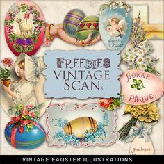 Freebies Vintage Easter Illustrations