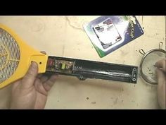 ▶ Make a static grass applicator with an electric fly swatter: Part 1 - YouTube