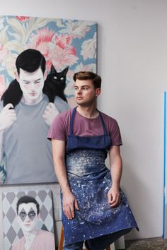 Artist Kris Knight in his Toronto studio - I need a portrait of me and my cat like that:)