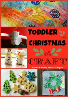 A collection of easy Christmas crafts for toddlers featured on The Weekly Kid's Co-Op...What are you linking up this week?