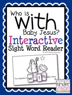 """""""Who Is With Baby Jesus?"""" Interactive Sight Word Reader"""