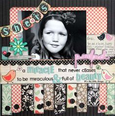 Scrapbook Layout Ideas: This is just too cute...I have been into the little birds in my own scrapbooking!!!!!