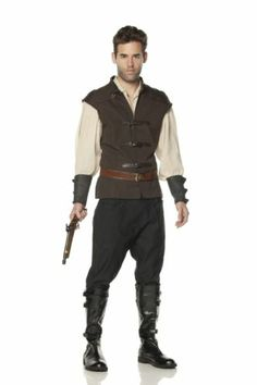 Mens Renaissance Costume Witch Hunter Hansel Halloween Adult Deluxe L Flawed   eBay