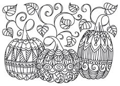 Patterned Pumpkins design (UTH6931) from UrbanThreads.com