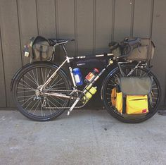 Camp bound! Soma double cross with 650b x42 fenders. Sweet.