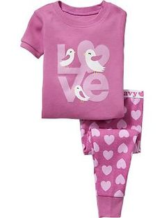 """Love"" PJ Sets for Baby 