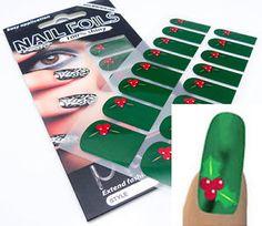 Full Nail Art Foils Wraps Vinyl Decal Stickers #53 Christmas Decoration