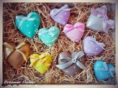 #Calamite cuori gesso, ceramica #Heart #magnets