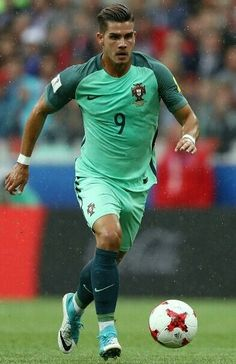 Andre Silva of Portugal in action during the FIFA Confederations Cup Russia 2017 Group A match between Russia and Portugal at Spartak Stadium on June 2017 in Moscow, Russia. best of FIFA confederations cup Neymar, Messi, Rugby Players, Football Players, Portugal Football Team, Cristiano Ronaldo, Fifa, Soccer Guys, Football Soccer