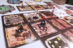 Betrayal at House on the Hill is a tile game that allows players to build their own haunted house room by room, tile by tile, creating a new thrilling game board every time. The game is designed for three to six people, each of whom plays one of six possible characters.