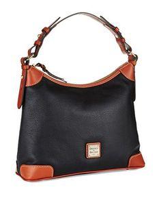 Dooney & Bourke Pebbled Leather Hobo Bag Women's Black