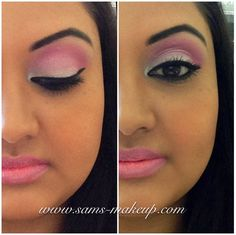 Pink Eye shadow with pink lips  Makeup By Samantha