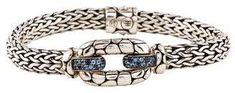 John Hardy Topaz & Iolite Kali Link Bracelet John Hardy Jewelry, Link Bracelets, Topaz, Jewelry Design, Pouch, Belt, Sterling Silver, Accessories, Belts