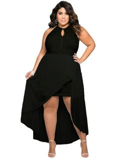 online shopping for SUGARWEWE Stylish Black Halter Lace Special Occasion Plus Size Dress from top store. See new offer for SUGARWEWE Stylish Black Halter Lace Special Occasion Plus Size Dress High Low Summer Dresses, Summer Dresses For Women, Girls Dresses, Party Dresses, Dress Summer, Winter Dresses, Dress Party, Evening Dresses, Wedding Dresses