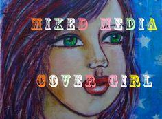 Art Journal Mixed Media Cover Girl