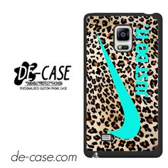 Nike Leopard Pattern Tiffany Blue Logo Colours DEAL-7910 Samsung Phonecase Cover For Samsung Galaxy Note Edge