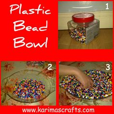 make a bowl by melting beads
