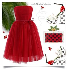 """""""Ladybug"""" by interesting-times ❤ liked on Polyvore featuring Charlotte Olympia, Chicwish and embellishedshoes"""