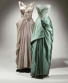 Gowns designed by the great, Charles James