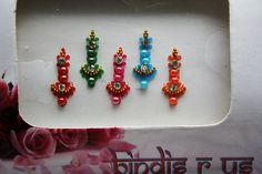 5 Handcrafted Indian Bindis for Face & Eyebrow Makeup.