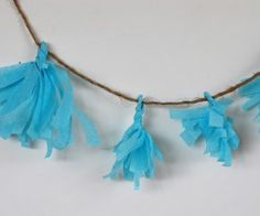 Cute little crepe paper garland.