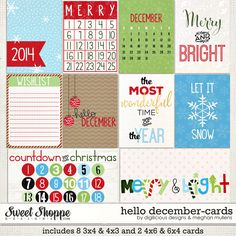 {Hello December} Digital Scrapbook Journal Cards by Digilicious Design and Meghan Mullens available at Sweet Shoppe Designs http://www.sweetshoppedesigns.com/sweetshoppe/product.php?productid=29480&page=1 #digiscrap #digitalscrapbooking #digiliciousdesign #meghanmullens #hellodecember