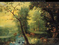 The Real Garden of Eden | Adam and Eve in the garden of Eden - Jan The Elder Brueghel ...