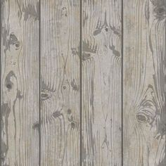 Crown Luxe Windward Wood Effect Glitter Wallpaper Mid Grey M1135