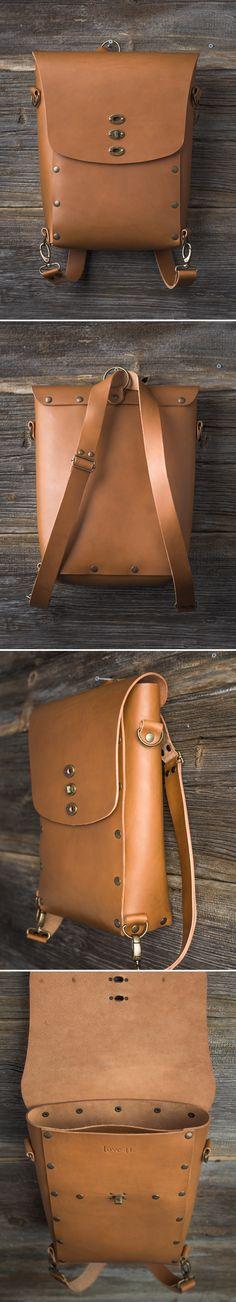 Umuragi Convertible Backpack | Full Grain Leather | 41 Year Warranty | $269.00