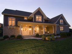 Verona Grove Craftsman Home  from houseplansandmore.com