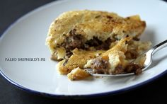 Paleo Shepherd's Pie. This is my favorite shepherds pie recipe-except I add a twist: I chop of cauliflower and sautee in pan with garlic and red pepper flakes-once it carmelizes I add a cracked egg, mix quickly and pour on top of mixture, into oven and yumm!