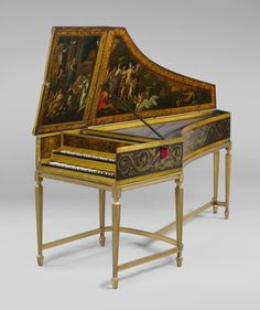 Harpsichord by Jan Ruckers, Antwerp, at The Metropolitan Museum of Art. Read More http://www.metmuseum.org/toah/hd/flhv/hd_flhv.htm