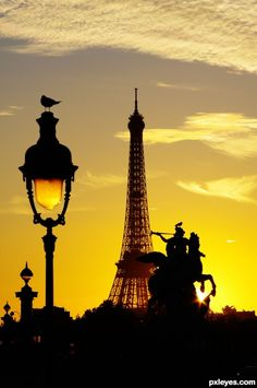 An evening in Paris.  Paris is a wonderful city during the day but in the evening it becomes magical.