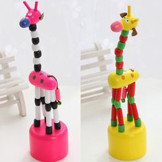 e3403cc507ef 2pcs funny  baby kids intellectual developmental educational wooden giraffe  toy from  2.99 Funny Babies