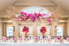 Amazing head table decor and floral by @Rachel A. Clingen Wedding & Event Design  photos by: Rowell Photography
