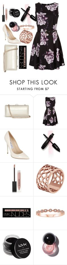 """""""Untitled #967"""" by mgldemartino ❤ liked on Polyvore featuring Rodo, Jimmy Choo, Burberry, Tartesia, Charlotte Russe and NYX"""