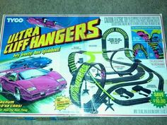 Tyco Ultra Cliff Hangers Slot Car Race Track Set- This was one of my first slot car tracks as a kid!