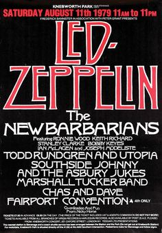Led Zeppelin - August 11th, 1979 - Knebworth, Hertfordshire, England - Concert Poster