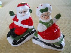 Lefton Santa and Mrs. Claus in Sleighs Salt and by DEWshophere, $9.99