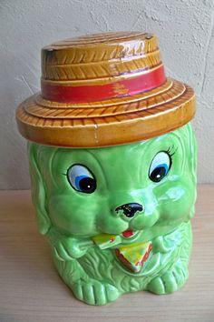 Dog Cookie Jar made in Japan