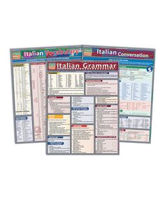 Love this Italian Conversation, Vocabulary & Grammar Reference Sheet Set by BarCharts on #zulily! #zulilyfinds
