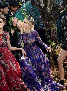 Bianca Balti & Claudia Schiffer for Dolce & Gabbana ~ Fall/WInter 2014-15
