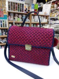 Louis Vuitton Damier, Crochet, Pattern, Handmade, Bags, Fashion, Handbags, Moda, Hand Made