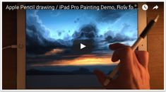 How To Paint Sky with the iPad Pro, Apple Pencil and Procreate App