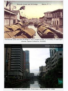 Then and Now – Binondo Canal Lift Bridge Interesting Photos, Cool Photos, Philippines Culture, Architecture Concept Drawings, Old Images, University Of Washington, Present Day, Manila, Destruction