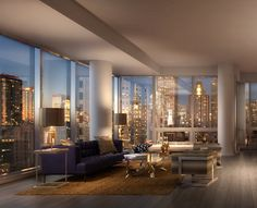 ♡GlamBarbiE♡ Luxury living room new York  Empire State of Mind
