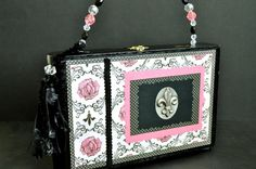 Paris Purse Pink and Black French theme fluer by fiorelladesigns, $65.00