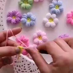 Tutorial video how to make flowers crochet By: . - Tutorial video how to make flowers crochet 💐💐💐💐 By: . Informations About Tutorial video how to make flowers crochet By: . Crochet Puff Flower, Crochet Flower Tutorial, Crochet Flower Patterns, Crochet Designs, Diy Crochet Flowers, Crochet Sunflower, Crochet Butterfly, Crochet Doilies, Crochet Crafts