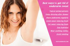 How To Reduce Sweating, Excessive Sweating, Underarm Smell, Armpits Smell, Smelly Underarms, Home Health Remedies, Natural Deodorant, How To Get Rid